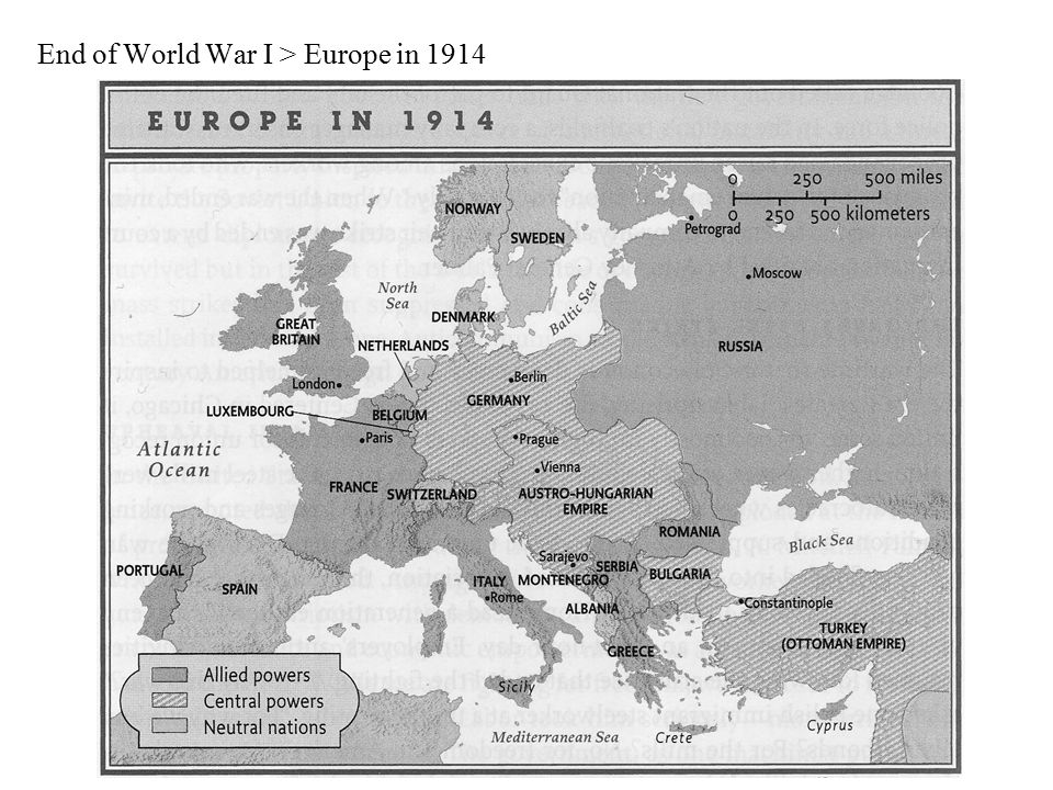 End of World War I > Europe in 1914