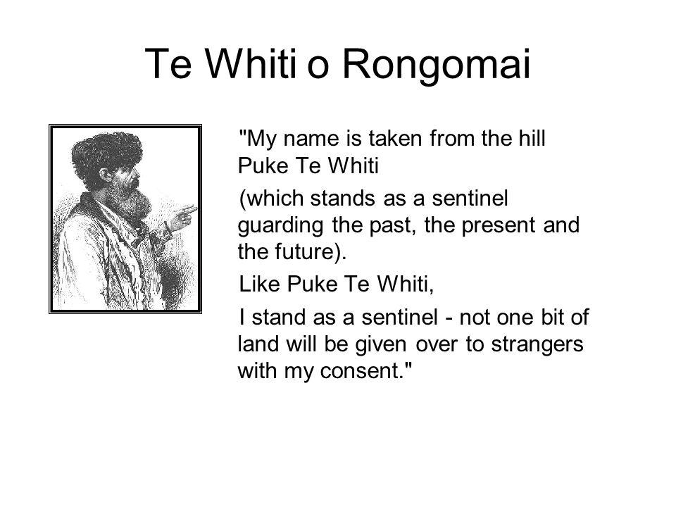 Te Whiti o Rongomai