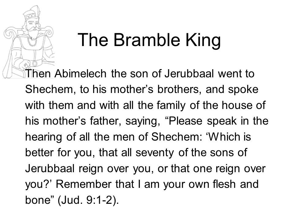 Abimelech's Appeal The Imagination –Emotion –What do you think.