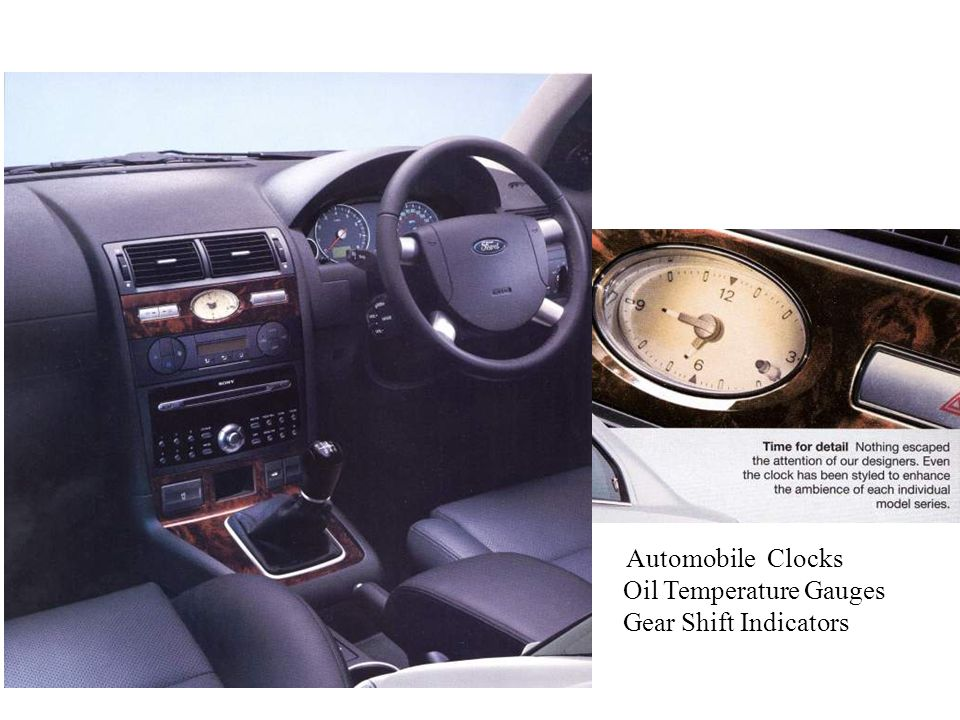 Automobile Clocks Oil Temperature Gauges Gear Shift Indicators