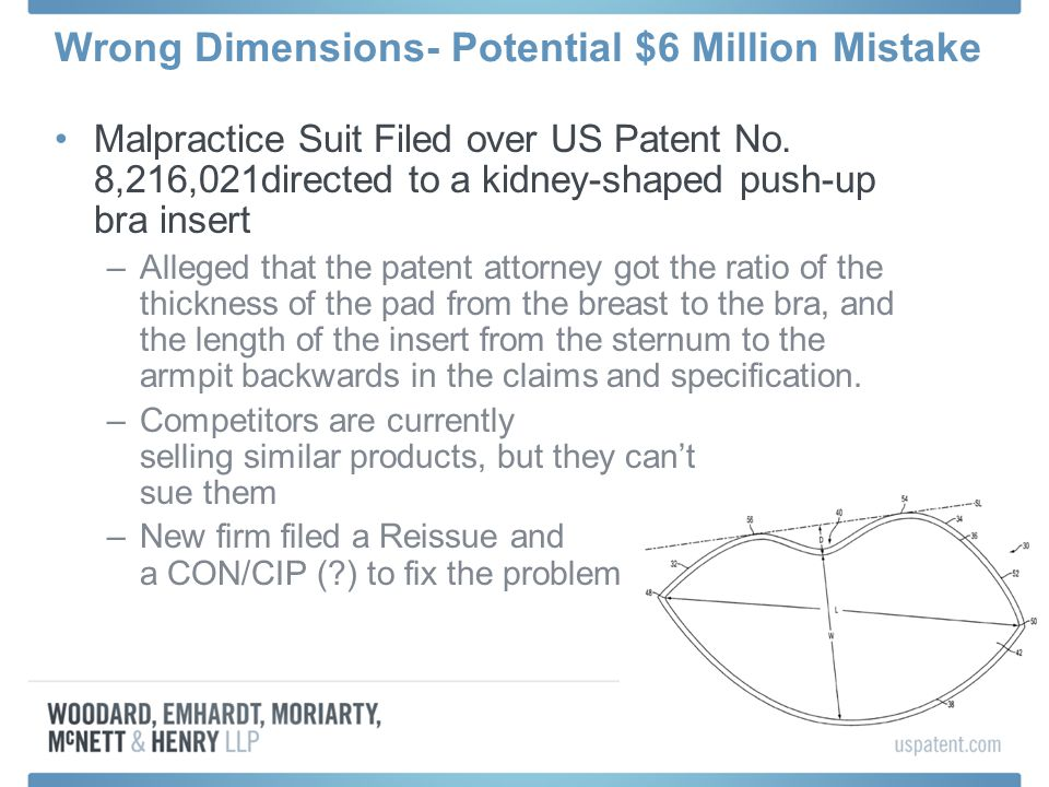 Wrong Dimensions- Potential $6 Million Mistake Malpractice Suit Filed over US Patent No.