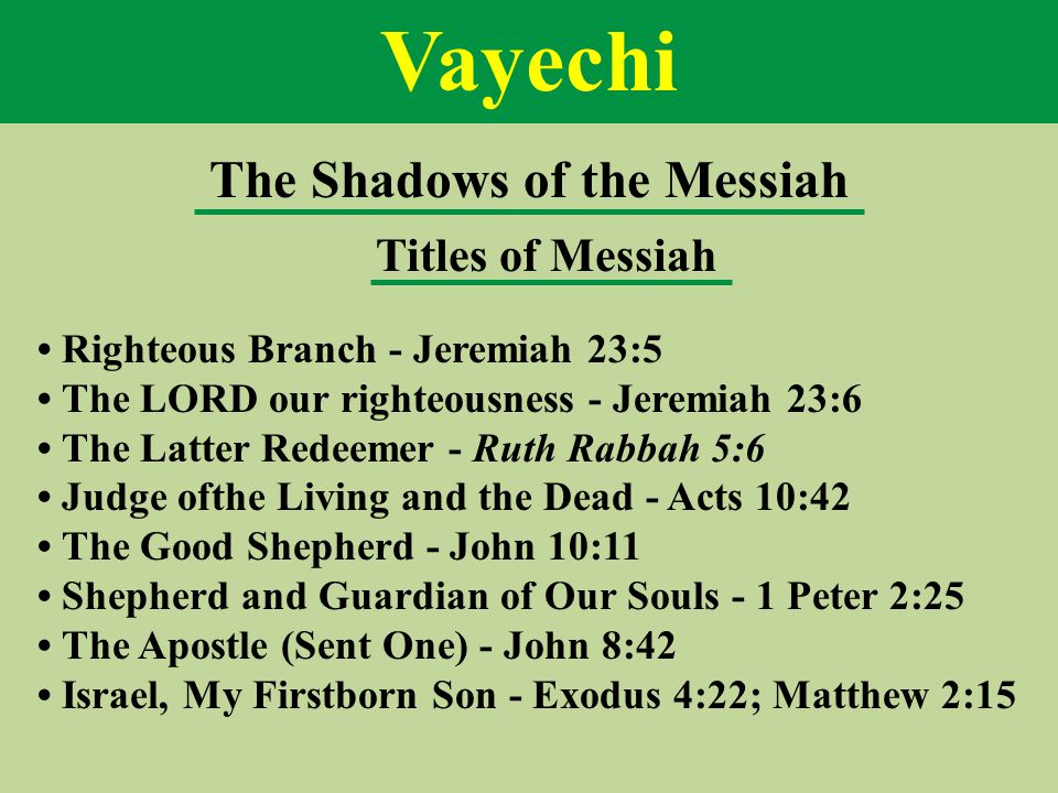Egypt and Final Redemption The redemption from Egypt The servitude of the children of Israel in Egypt Moses corresponds to Messiah The exodus from Egypt The revelation of the Torah The arrival at the Promised Land