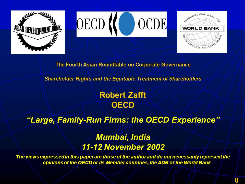 21 Over time, the rising complexity of succession necessitates either formal governance mechanisms or takeover of the business by one branch of the family, with possible expropriation of the other branches' wealth Source: Paul Westhead and Carole Howorth, A Comparison of Ownership and Management Practices in First and Multi-Generational Family Firms, 24th ISBA National Small Firms Conference, 2001 Succession in Family-Run Firms First Generation Second Generation Third Generation Controlling Owner Sibling Partnership Cousin Consortium Simple Complex Evolutionary Succession Devolutionary Succession Good corporate governance becomes necessary to run the business and to preserve family harmony