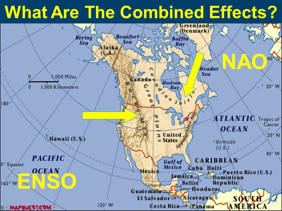 ENSO NAO What Are The Combined Effects?