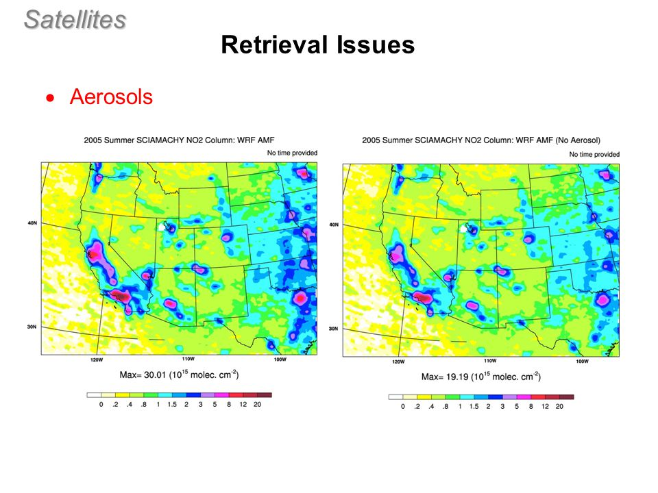 Satellites  Aerosols Retrieval Issues (aero1)