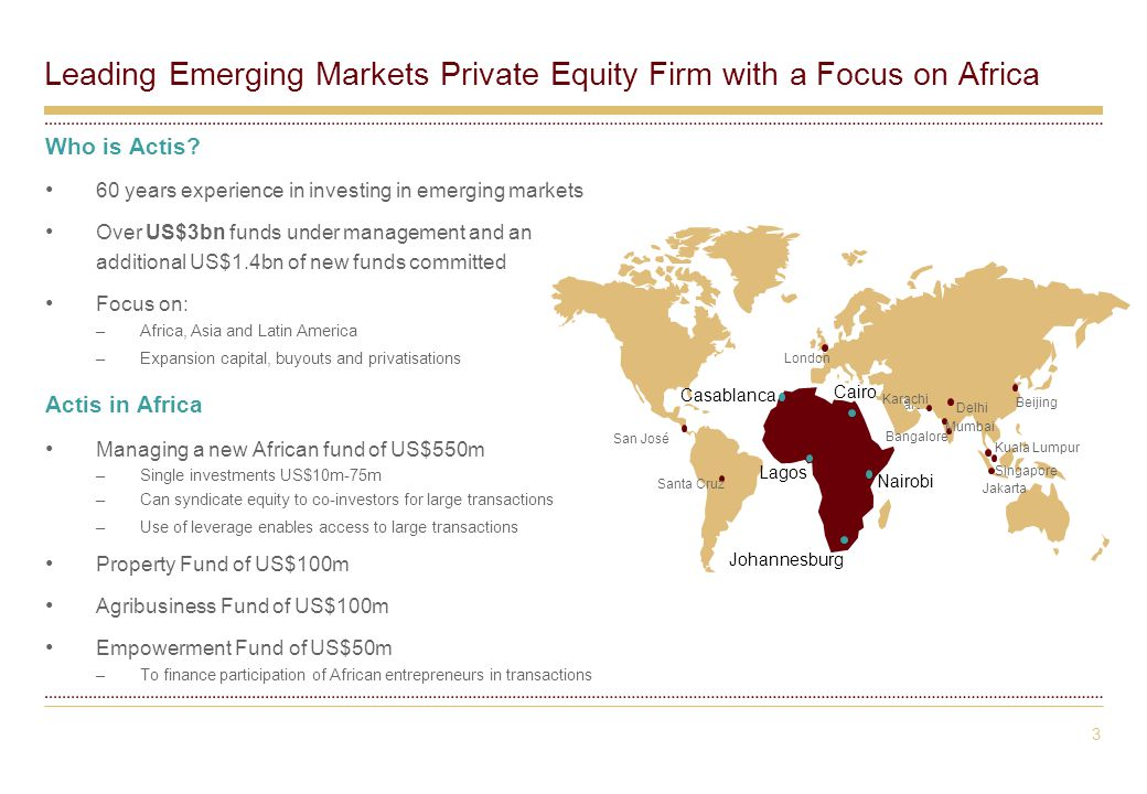 3 Leading Emerging Markets Private Equity Firm with a Focus on Africa Who is Actis.
