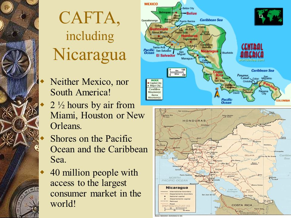 Was CAFTA*, a return to Geopolitics. 2003 Trade with US was over US$ 31 Billion.