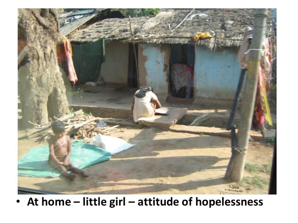 At home – little girl – attitude of hopelessness