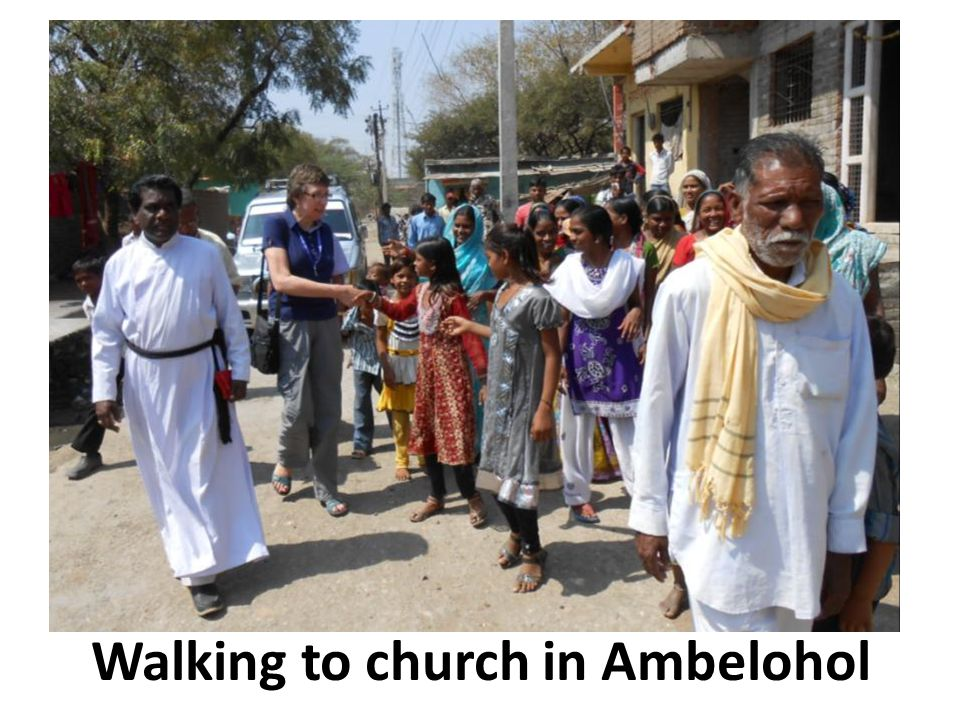 Walking to church in Ambelohol