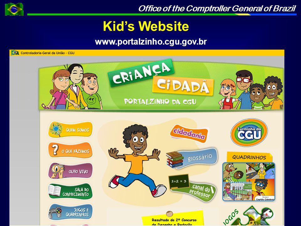 Office of the Comptroller General of Brazil Kid's Website www.portalzinho.cgu.gov.br