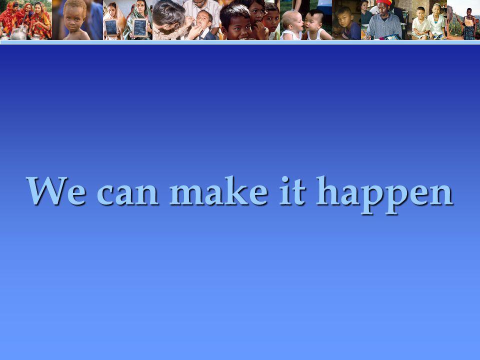 We can make it happen