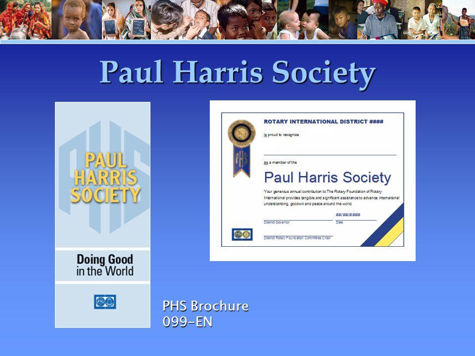 Paul Harris Society PHS Brochure 099-EN