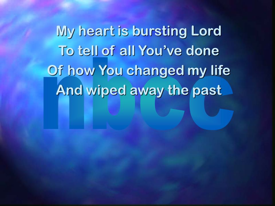 I wanna shout it out From every roof top sing For now I know that God is for me Not against me