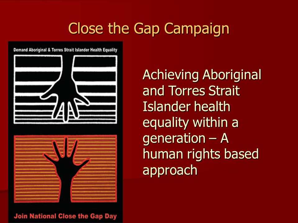 National Health Equality Summit – Statement of Intent The Statement of Intent commits to: Develop a comprehensive, long-term plan of action, that is targeted to need, evidence-based and capable of addressing the existing inequities in health services, in order to achieve equality of health status and life expectancy between Aboriginal and Torres Strait Islander peoples and non- Indigenous Australians by 2030.