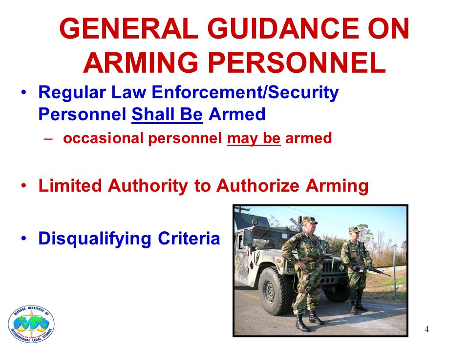 5 GUIDANCE ON ARMING PERSONNEL Required Annual Training & Testing Required Safety Locking Device at Home No Alcohol or Prescription Drug Use