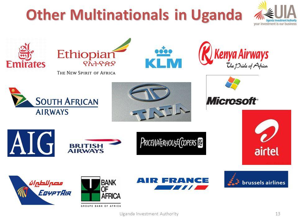 Uganda Investment Authority13 Other Multinationals in Uganda