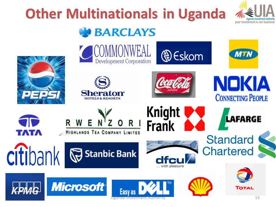 Uganda Investment Authority14 Other Multinationals in Uganda