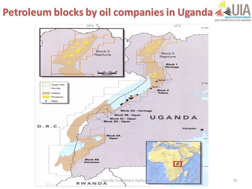 30 Petroleum blocks by oil companies in Uganda Uganda Investment Authority