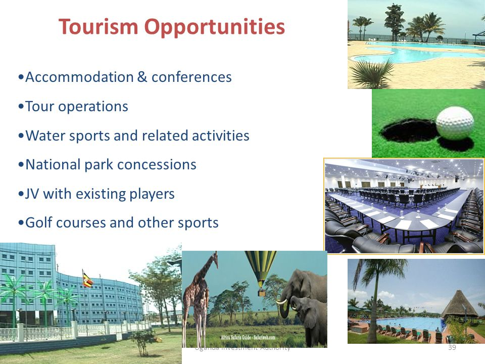 39 Accommodation & conferences Tour operations Water sports and related activities National park concessions JV with existing players Golf courses and other sports Tourism Opportunities