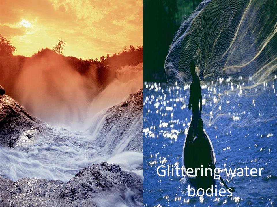 Glittering water bodies