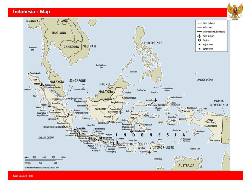 Indonesia : Map Map Source : EIU