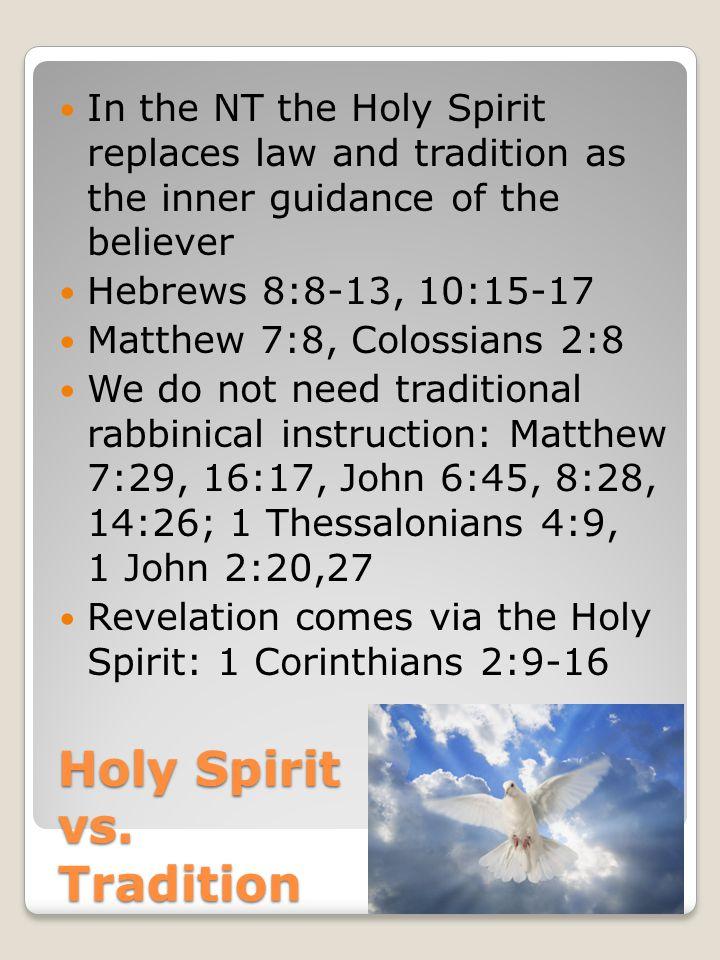 Holy Spirit vs.