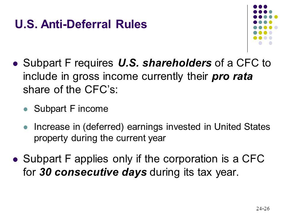 24-26 Subpart F requires U.S.