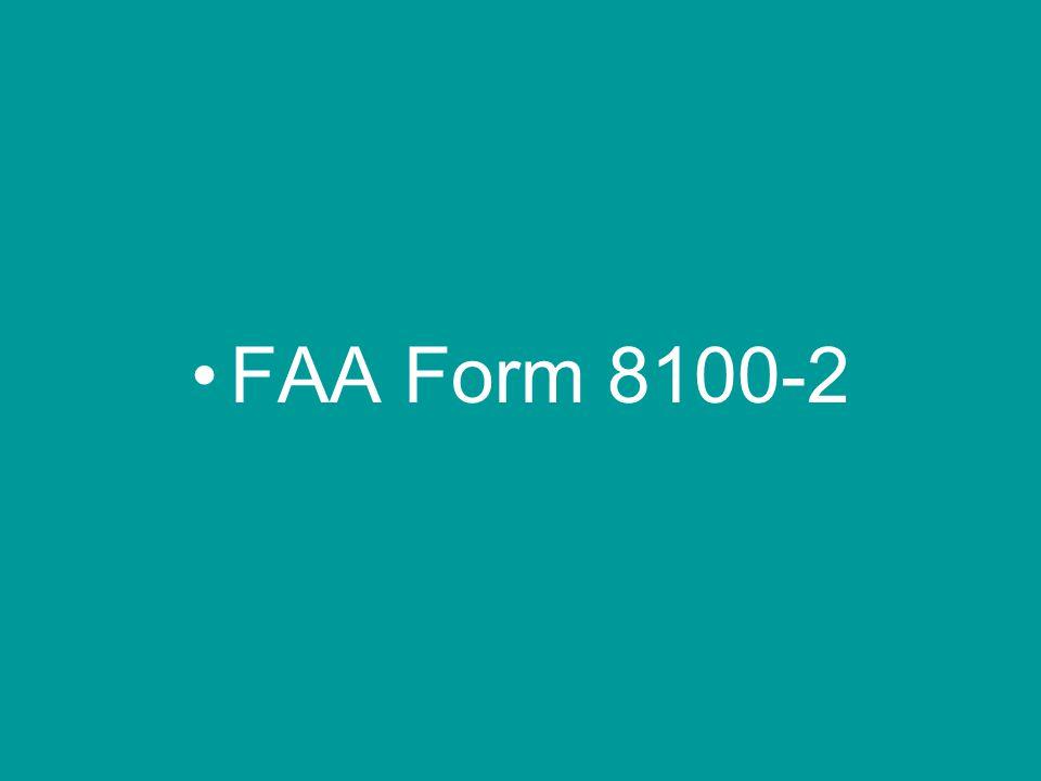 FAA Form 8100-2