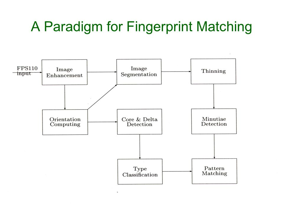 A Paradigm for Fingerprint Matching
