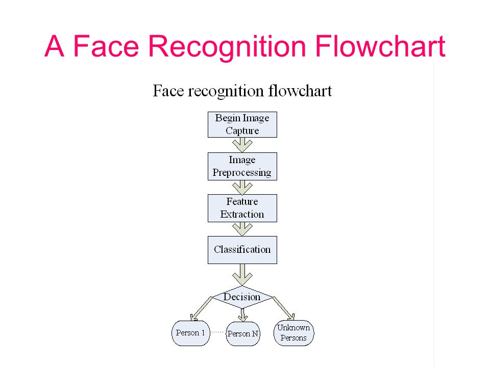 A Face Recognition Flowchart