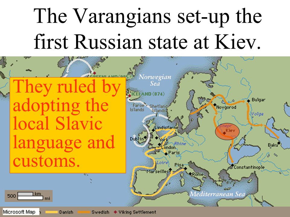 Kiev located on the Dnepr River in present-day Ukraine emerged as the first centre of Russian culture/civilization was the spiritual/cultural heart of Russia