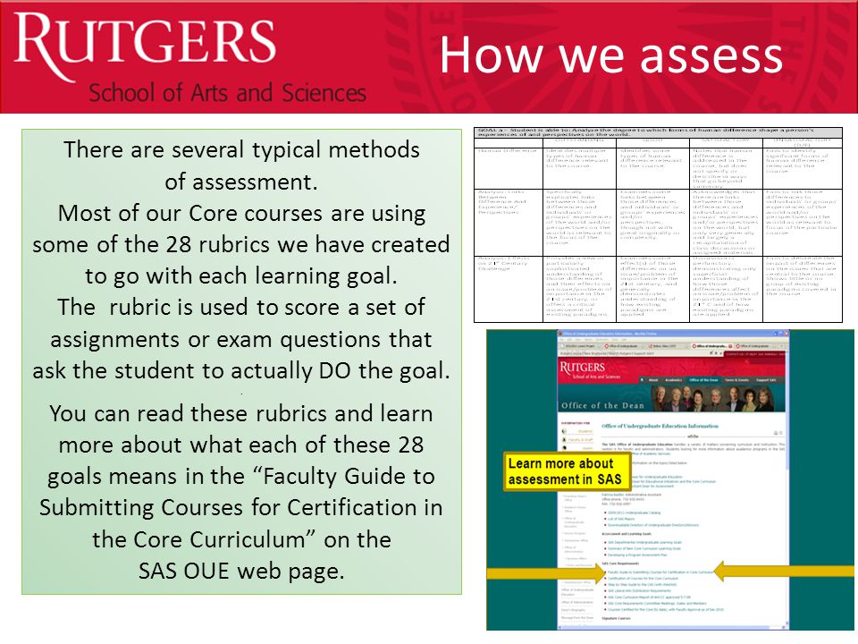 Optional Presentation Title There are several typical methods of assessment.