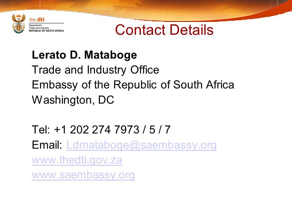 Contact Details Lerato D.