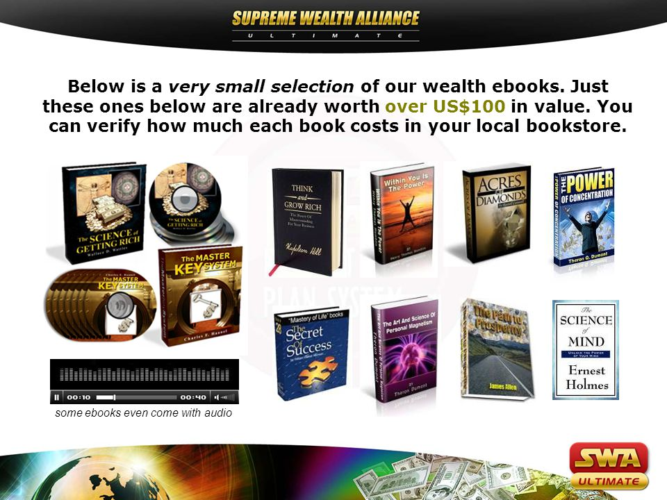 Below is a very small selection of our wealth ebooks.