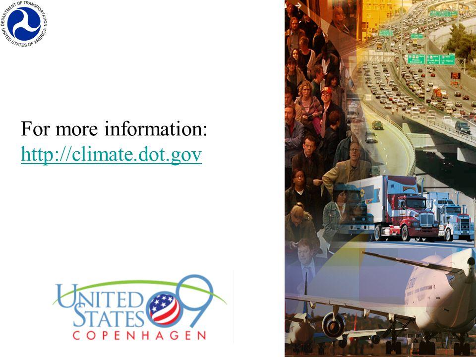 For more information: http://climate.dot.gov http://climate.dot.gov