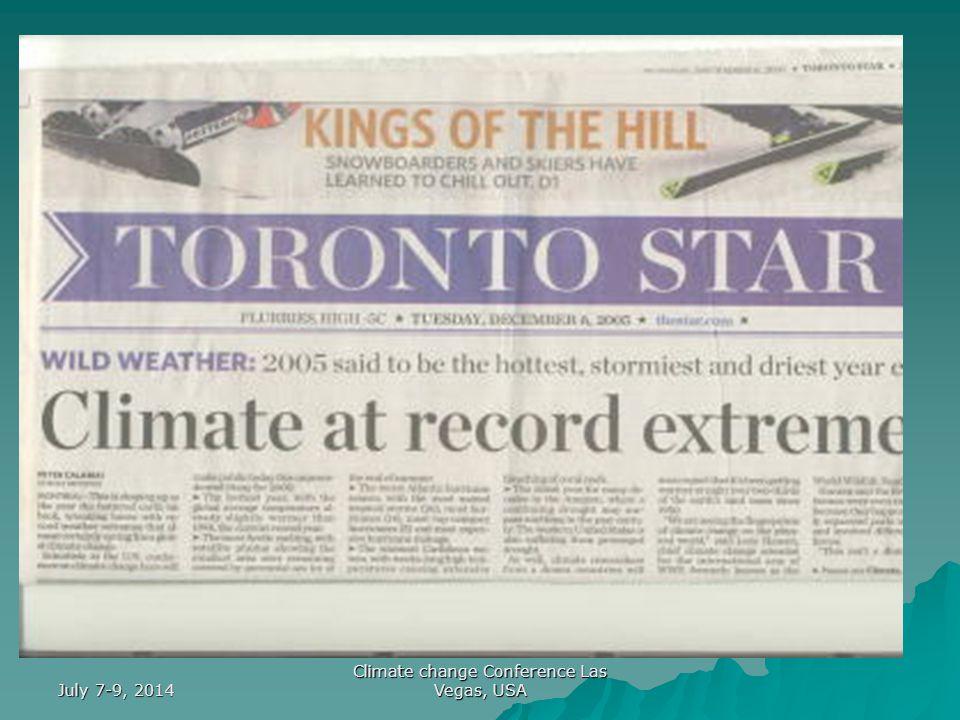 July 7-9, 2014 Climate change Conference Las Vegas, USA Mostly El Ninos Mostly La Ninas PDO COLD MODEPDO WARM MODE Wolter