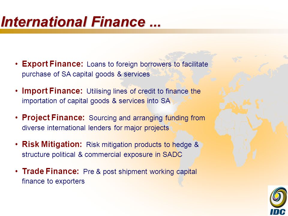 International Finance...