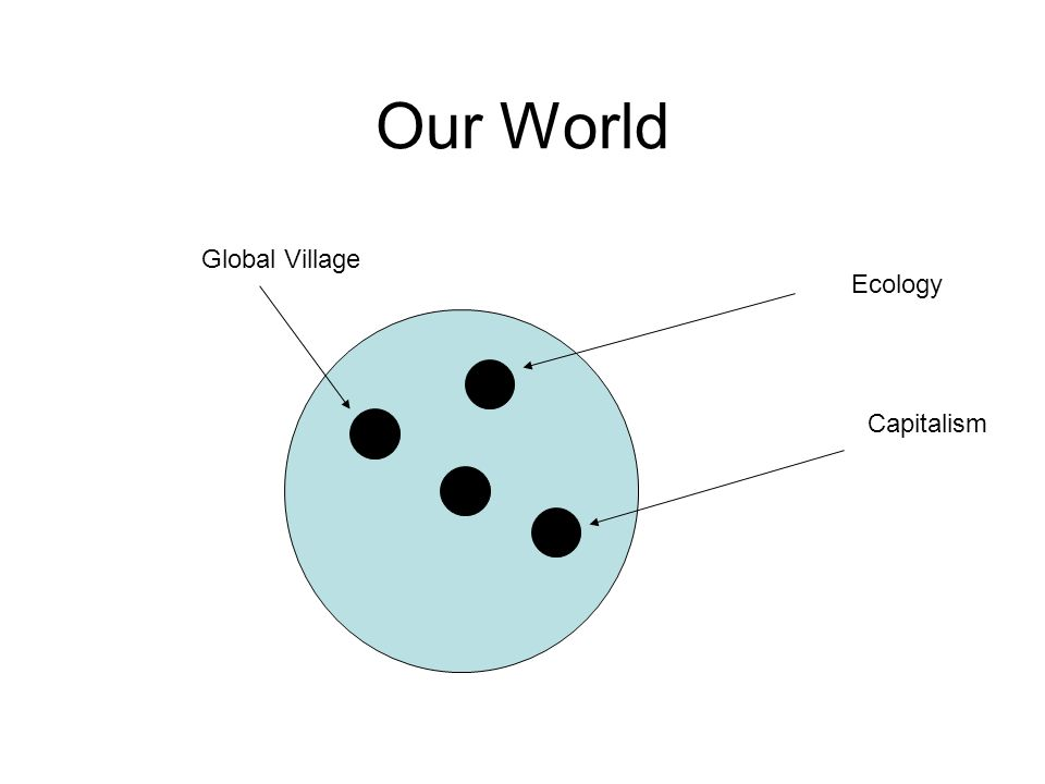 Our World Ecology Capitalism Global Village
