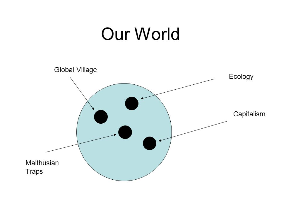 Our World Ecology Capitalism Global Village Malthusian Traps