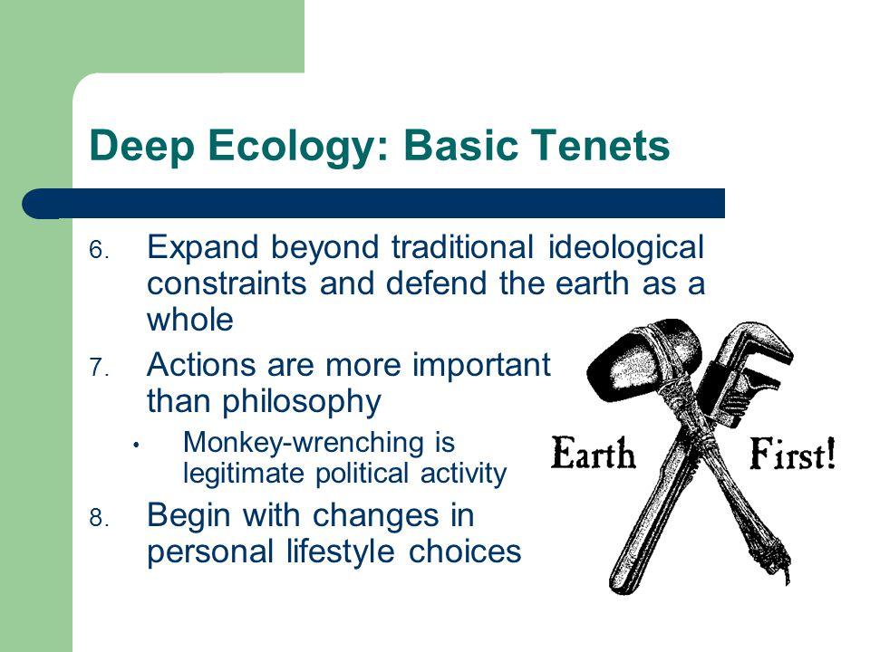Deep Ecology: Basic Tenets 6.