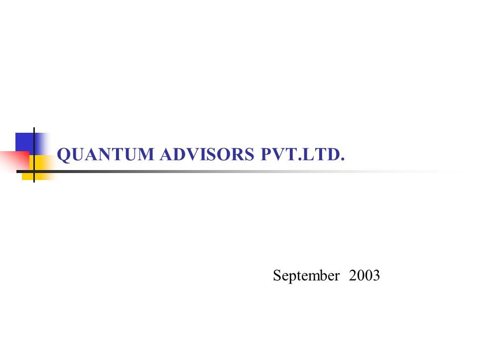 2 About Us  Portfolio management and investment advisory services is what we do  First organization in India to provide equity research services (1990)  Registered with SEBI as a discretionary Portfolio Manager (1997)  Currently advising FIIs in Indian equities and managing portfolios for individuals