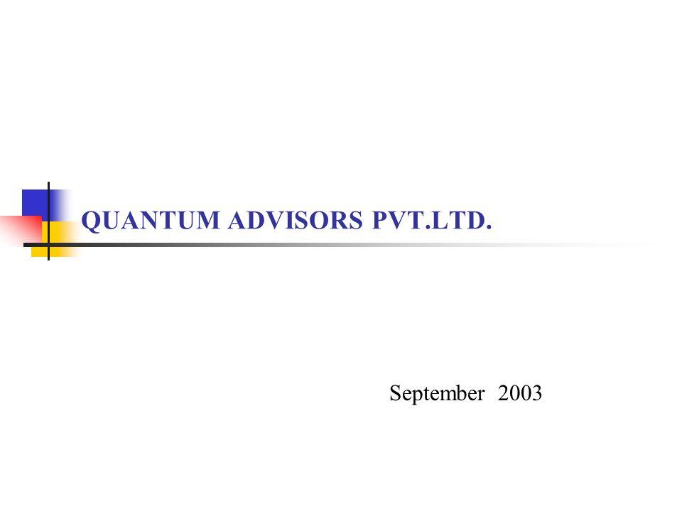 QUANTUM ADVISORS PVT.LTD. September 2003