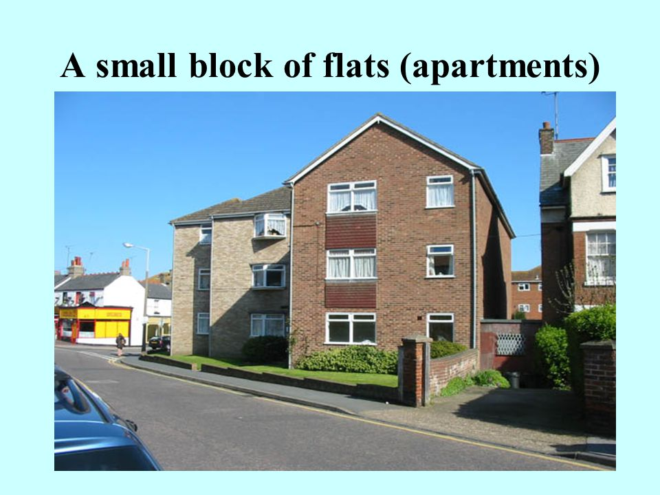 A small block of flats (apartments)