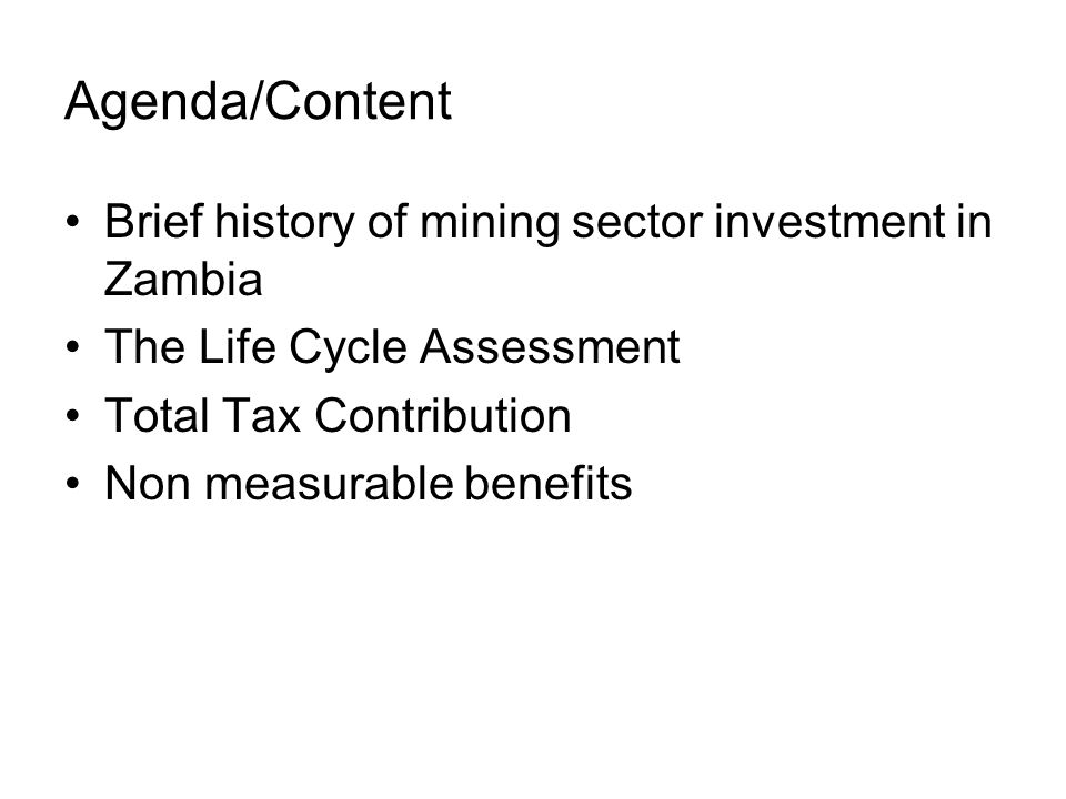Total tax contribution Investment in non mining operations: –Infrastructure –Mine hospitals –Schools –Health care programmes – e.g.