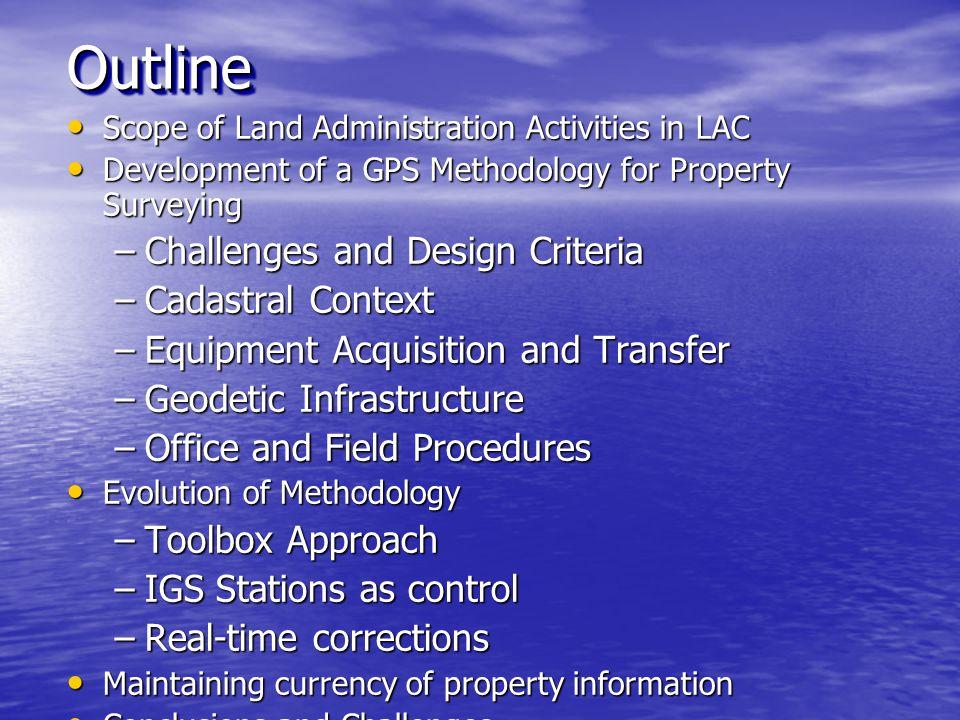 Cadastral Methodology (geodetic infrastructure)