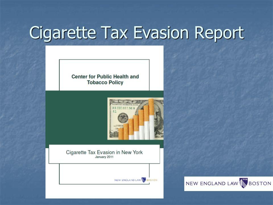 Cigarette Tax Evasion Report