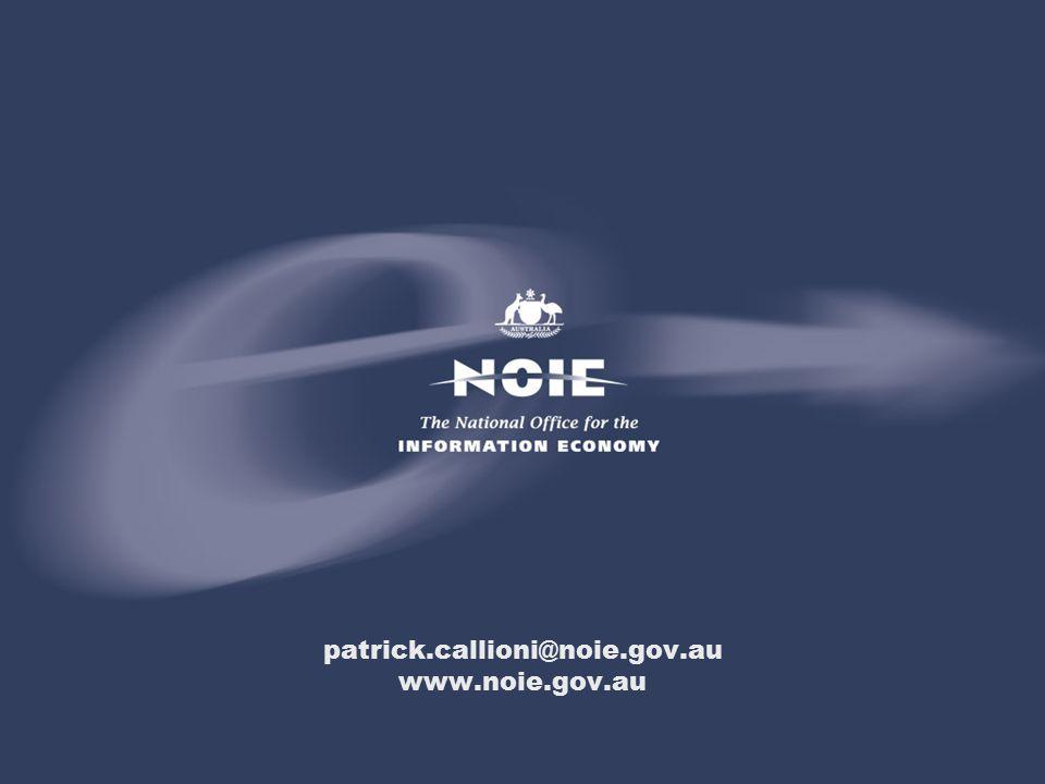 patrick.callioni@noie.gov.au www.noie.gov.au