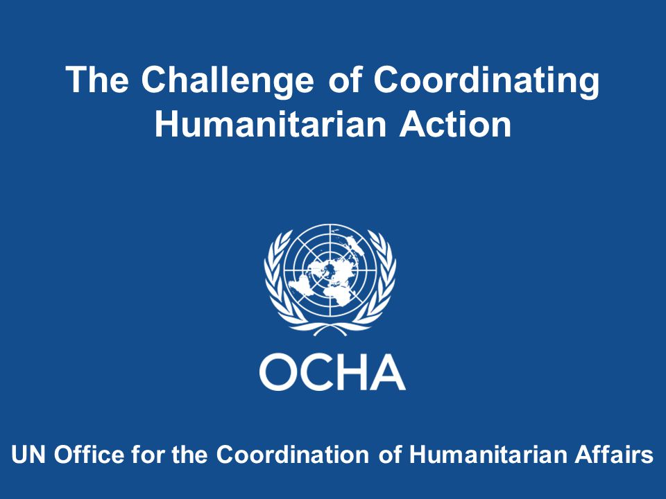 Humanitarian assistance is aid that seeks to save lives and alleviate suffering and maintain humanitarian dignity during and in the aftermath of man-made crises and natural disasters, as well as to strengthen preparedness for the occurrence of such situations...