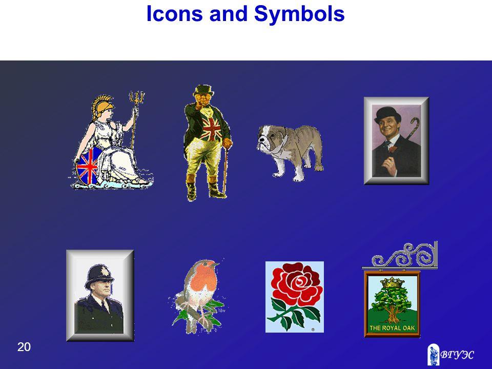 20 Icons and Symbols