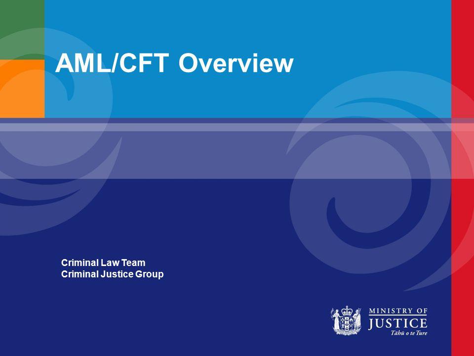AML/CFT Overview Criminal Law Team Criminal Justice Group